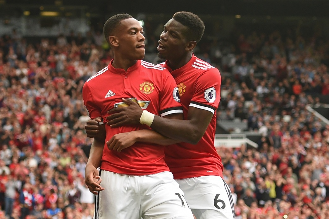 Anthony Martial et Paul Pogba (Manchester United)
