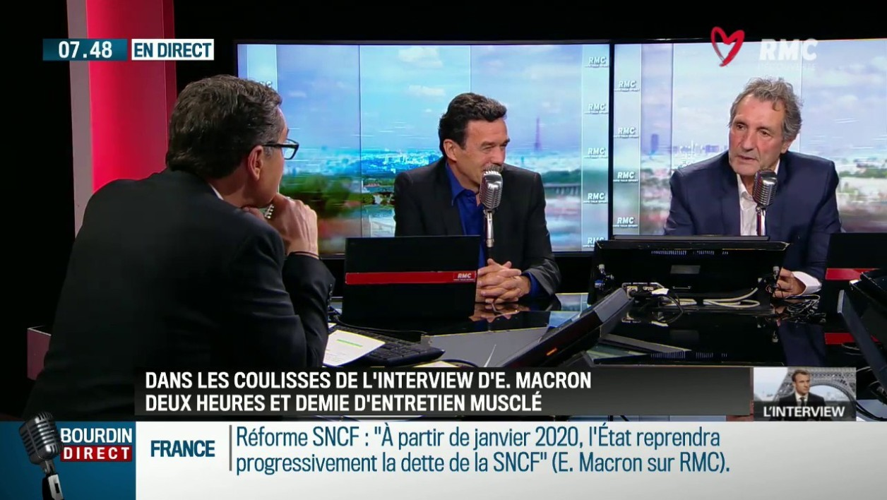 Interview d'Emmanuel Macron: les confidences de Jean-Jacques Bourdin et Edwy Plenel
