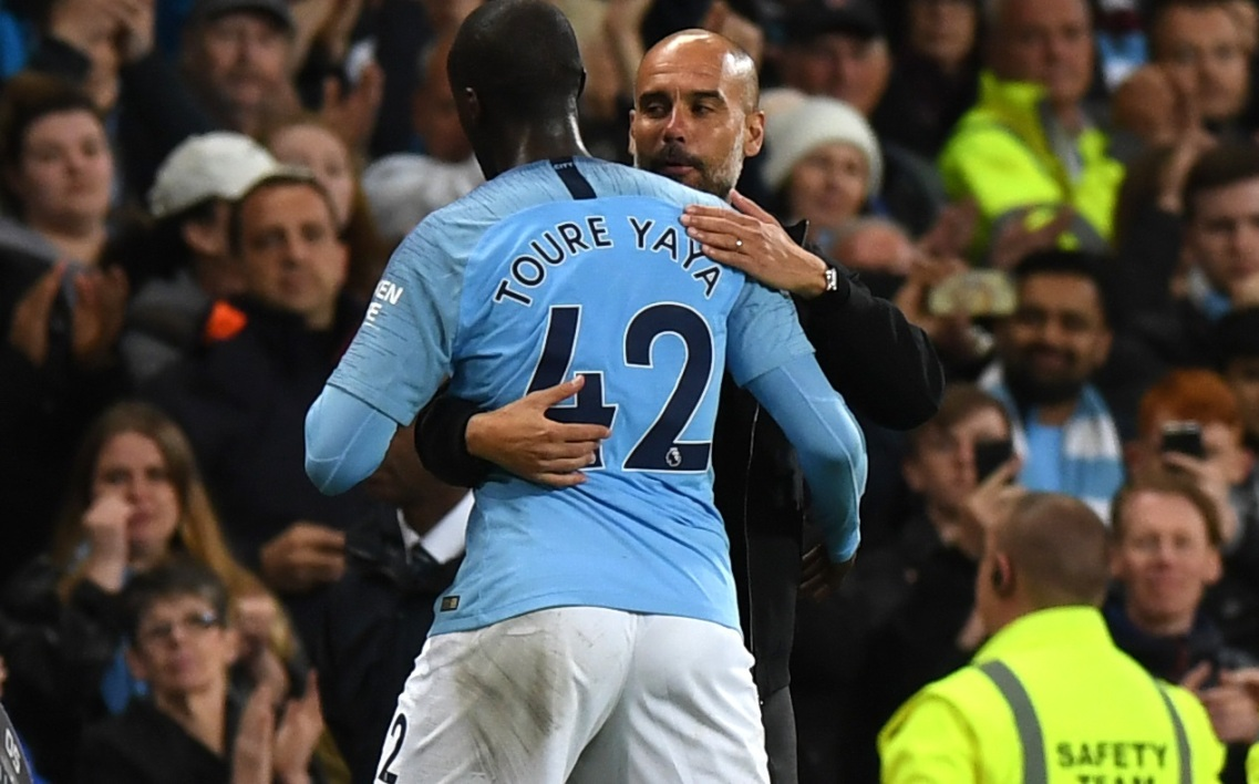Pep Guardiola et Yaya Touré
