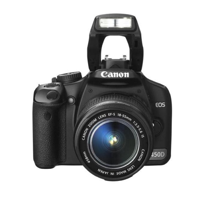 Canon EOS 450D + zoom EF-S IS 18-55 mm