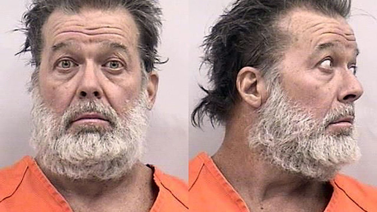 "This booking photo released by the Colorado Springs Police Department shows Robert L. Dear, 57, the suspect in the November 27, 2015, shooting at a Planned Parenthood clinic in Colorado Springs, Colorado. Police on November 28 were questioning Dear for allegedly killing three people, including a police officer, and wounding nine others. The gunman entered a Planned Parenthood clinic around noon Friday armed with what police described as a ""long weapon"" and opened fire from a window. Police surrounded the building, and after an exchange of gunfire and a standoff lasting more than five hours the gunman surrendered around 5:00 pm (0000 GMT Saturday)."