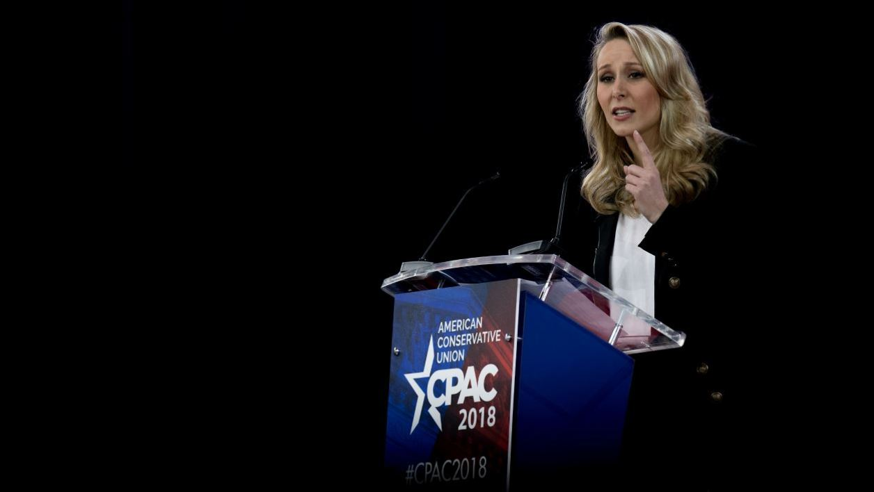 French far-right National Front (FN) party former member of parliament Marion Marechal-Le Pen speaks during the 2018 Conservative Political Action Conference in Oxon Hill, Maryland, on February 22, 2018.  JIM WATSON / AFP