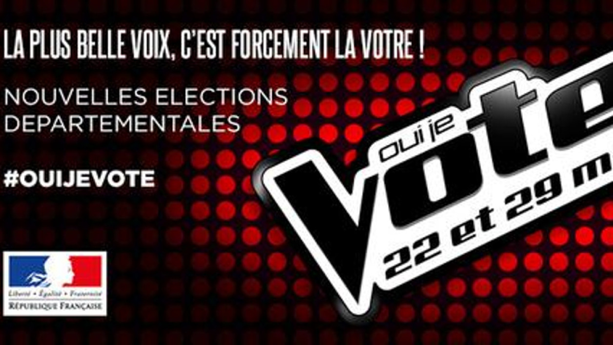 D partementales l 39 int rieur parodie the voice pour for Elections ministere de l interieur