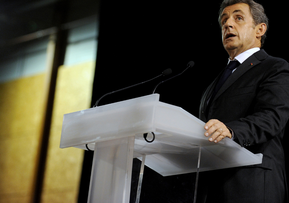 Nicolas Sarkozy en meeting en Touraine, mercredi 15 octobre