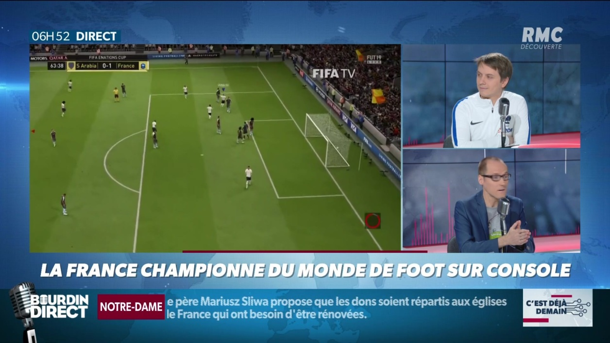 """La chronique d'Anthony Morel"": la France championne du monde de foot sur console"