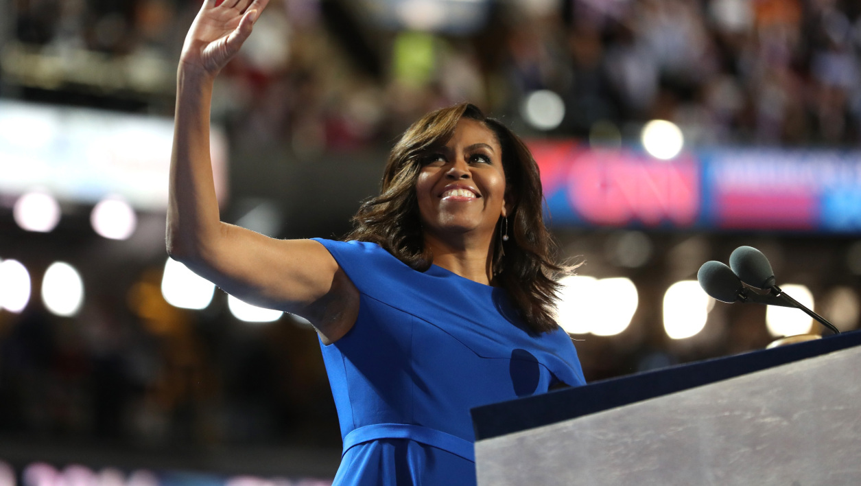 Michelle Obama lors de la convention nationale du parti démocrate, en juillet 2016.