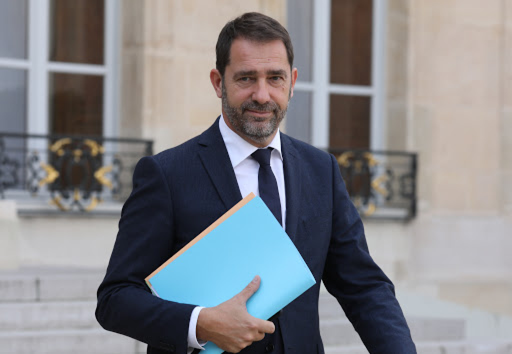 French Minister of State for Relations with Parliament and government spokesperson Christophe Castaner arrives to attend the weekly cabinet meeting on May 24, 2017 at the Elysee Palace in Paris.  STEPHANE DE SAKUTIN / AFP