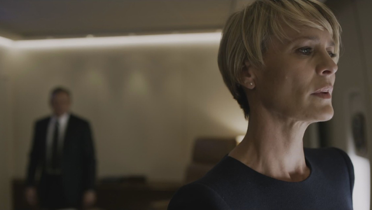 "Robin Wright incarne Claire Underwood dans ""House of Cards""."