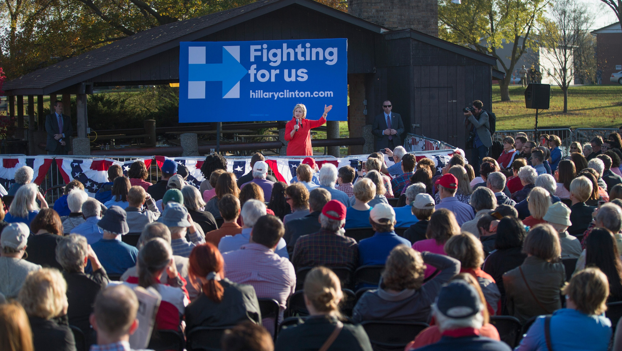 Hillary Clinton en meeting dans l'Iowa, le 3 novembre 2015.