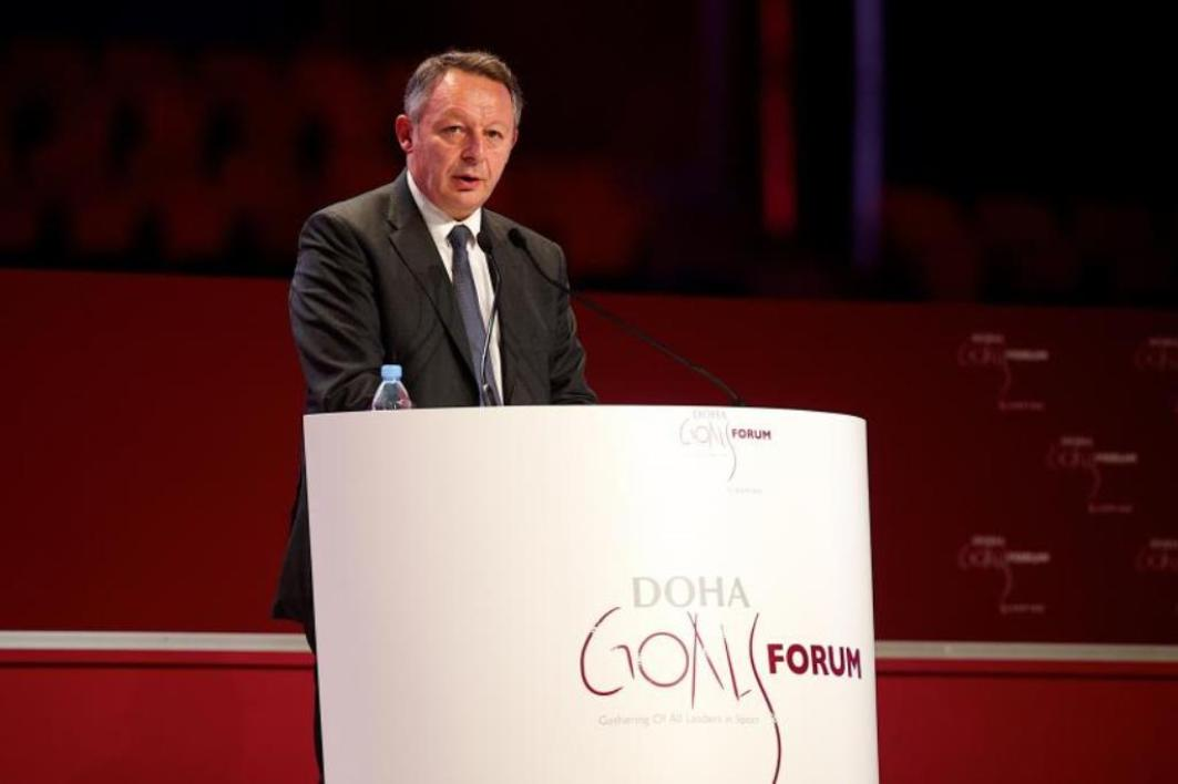 Thierry Braillard lors de son intervention aux Doha Goals.