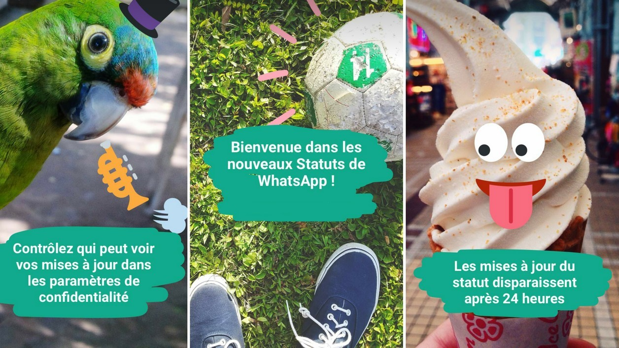 WhatsApp lance ses Statuts, copies conformes des Stories de Snapchat