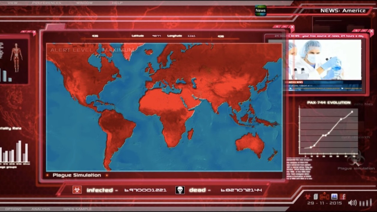 Le jeu Plague Inc.