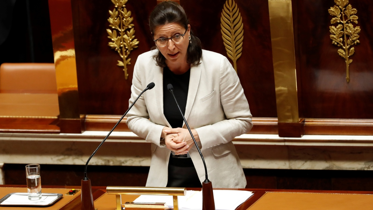 French Minister for Solidarity and Health Agnes Buzyn addresses deputies to present a bill allowing the government to change some policies in the health sector using executive orders, to avoid the reforms becoming bogged down in parliament, at the French National Assembly in Paris on July 19, 2017.  FRANCOIS GUILLOT / AFP