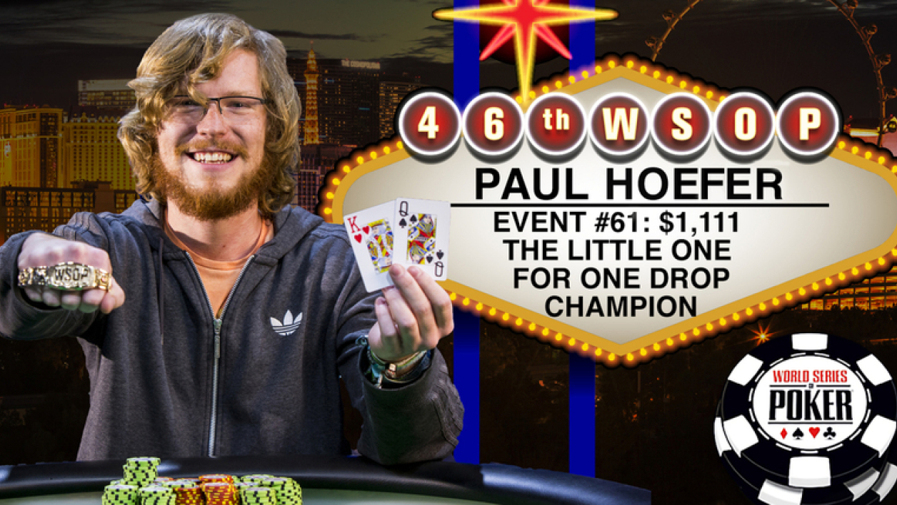 WSOP 2015 : Le Little One For One Drop pour Paul Hoefer