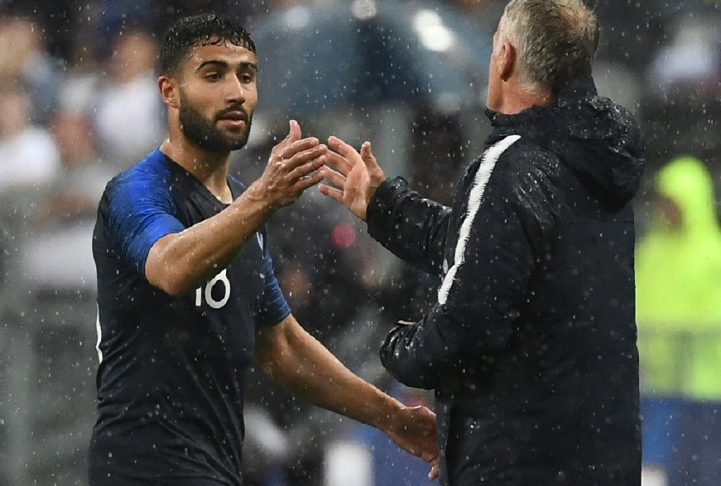 Nabil Fekir et Didier Deschamps