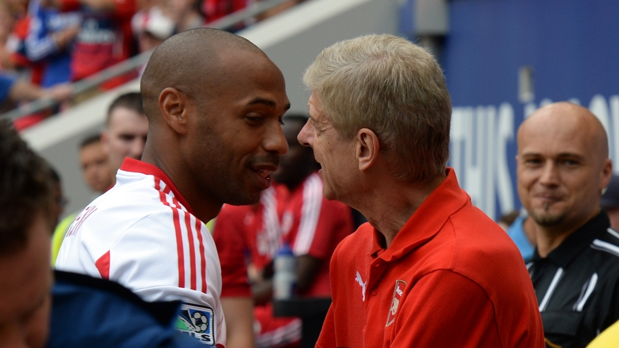 Thierry Henry et Arsène Wenger