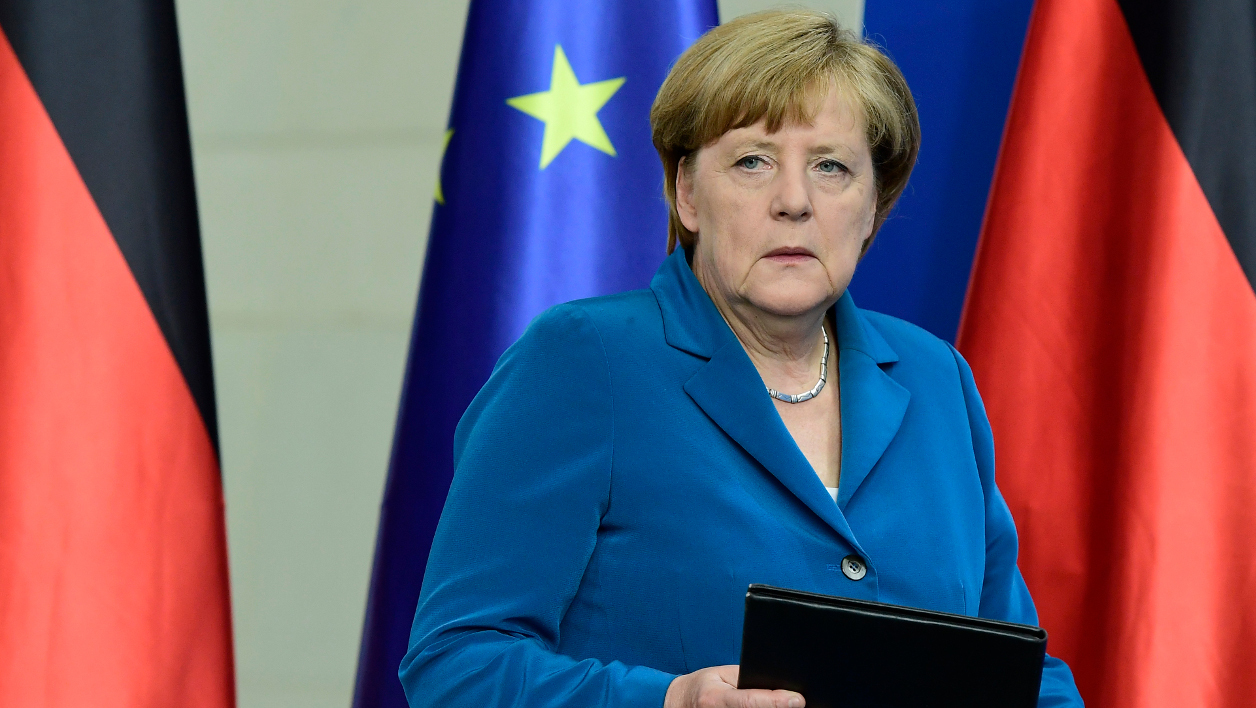 German Chancellor Angela Merkel gives a press conference on July 23, 2016 at the Chancellery in Berlin, one day after the attack at the shopping centre in Munich, southern Germany. Police were probing the motives of the lone teenage German-Iranian gunman who went on a deadly rampage at a busy Munich shopping centre, the third bloody attack on civilians in Europe in just over a week. Nine people were killed and another 16 wounded as the black-clad gunman brought terror to Germany's third largest city on Friday evening, July 22, 2016, before committing suicide. TOBIAS SCHWARZ / AFP