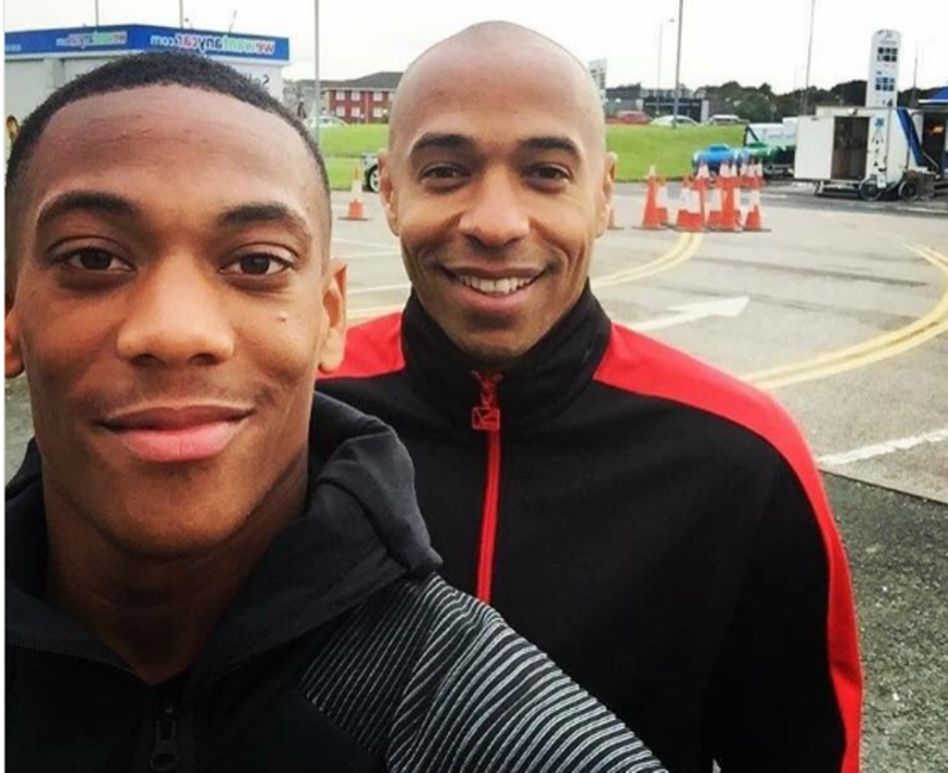 Anthony Martial et Thierry Henry