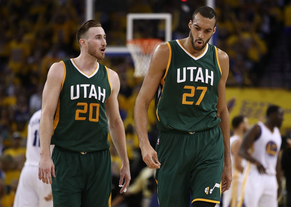 Gordon Hayward et Rudy Gobert