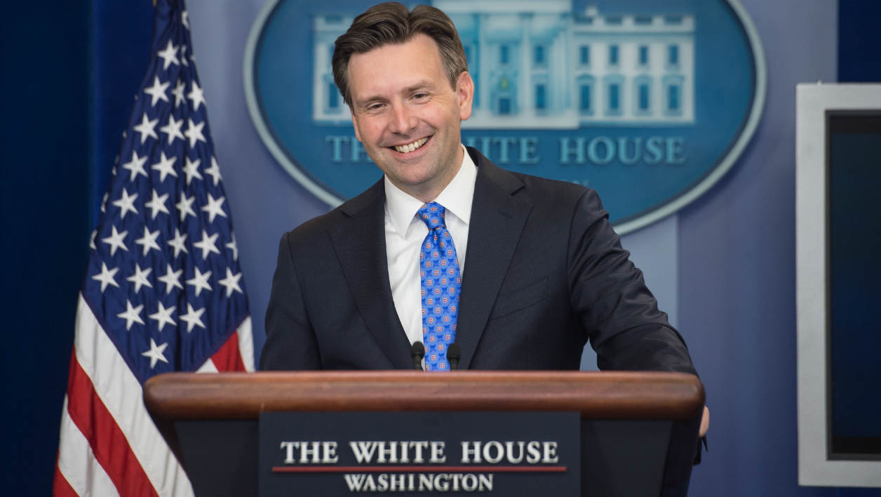 US Press Secretary Josh Earnest speaks during the daily briefing at the White House in Washington, DC, on September 3, 2015