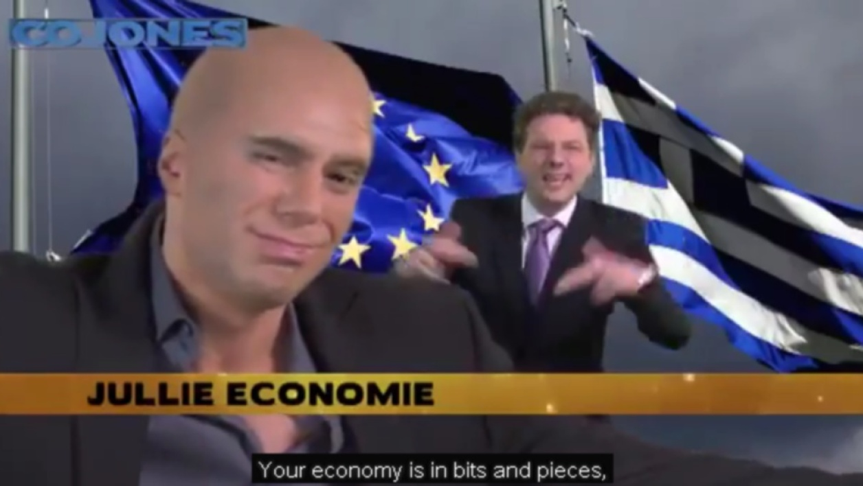 "Varoufakis et Dijsselbloem version ""rap battle"""