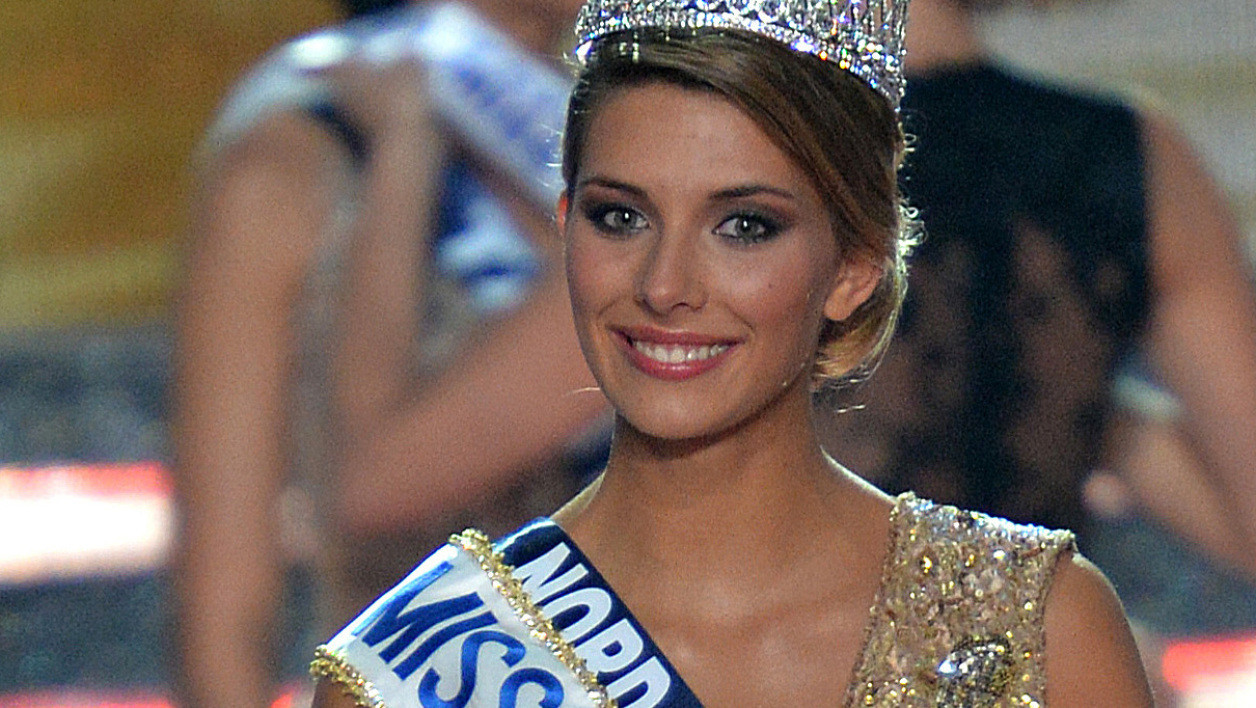 Camille Cerf, Miss France 2015, le soir de son élection.