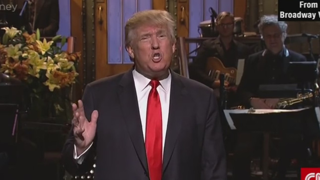 Donald Trump sur le plateau du Saturday Night Live.