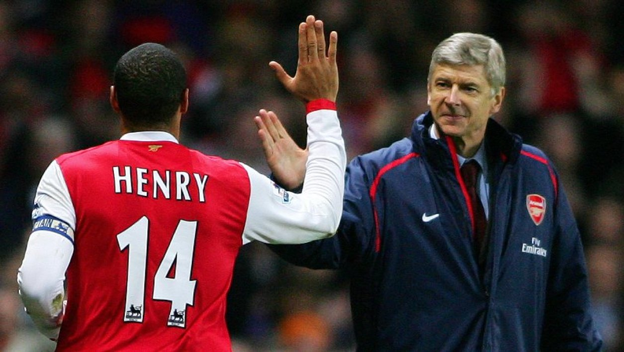 Arsène Wenger et Thierry Henry