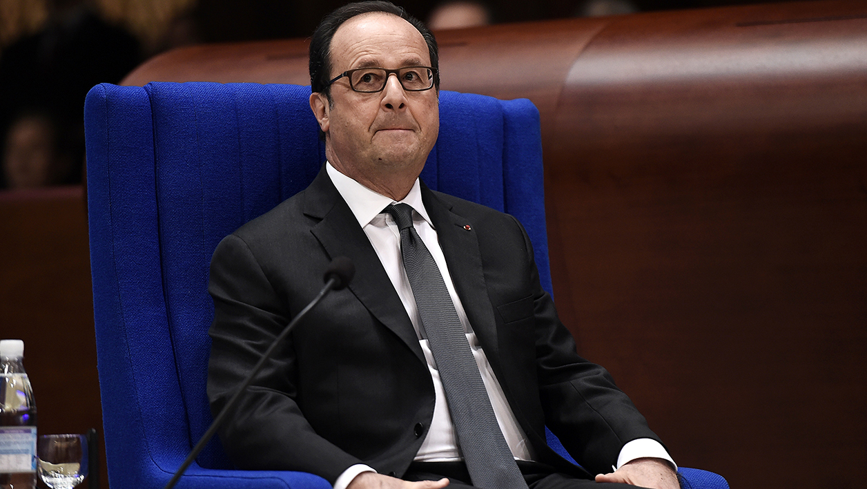 French President Francois Hollande looks on prior to deliver a speech before the Parliamentary Assembly of the Council of Europe (PACE) on October 11, 2016 in Strasbourg.