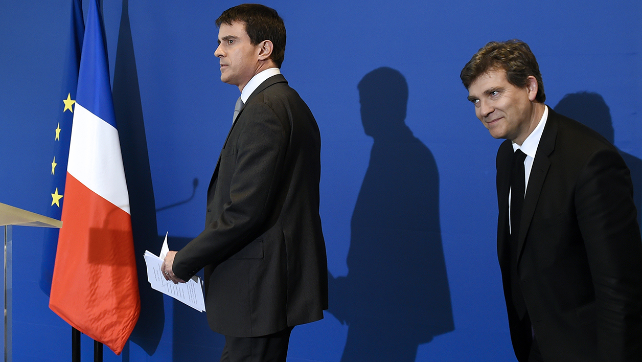 "Manuel Valls estime qu'Arnaud Montebourg ""manque de courage"". (Photo d'archives)."