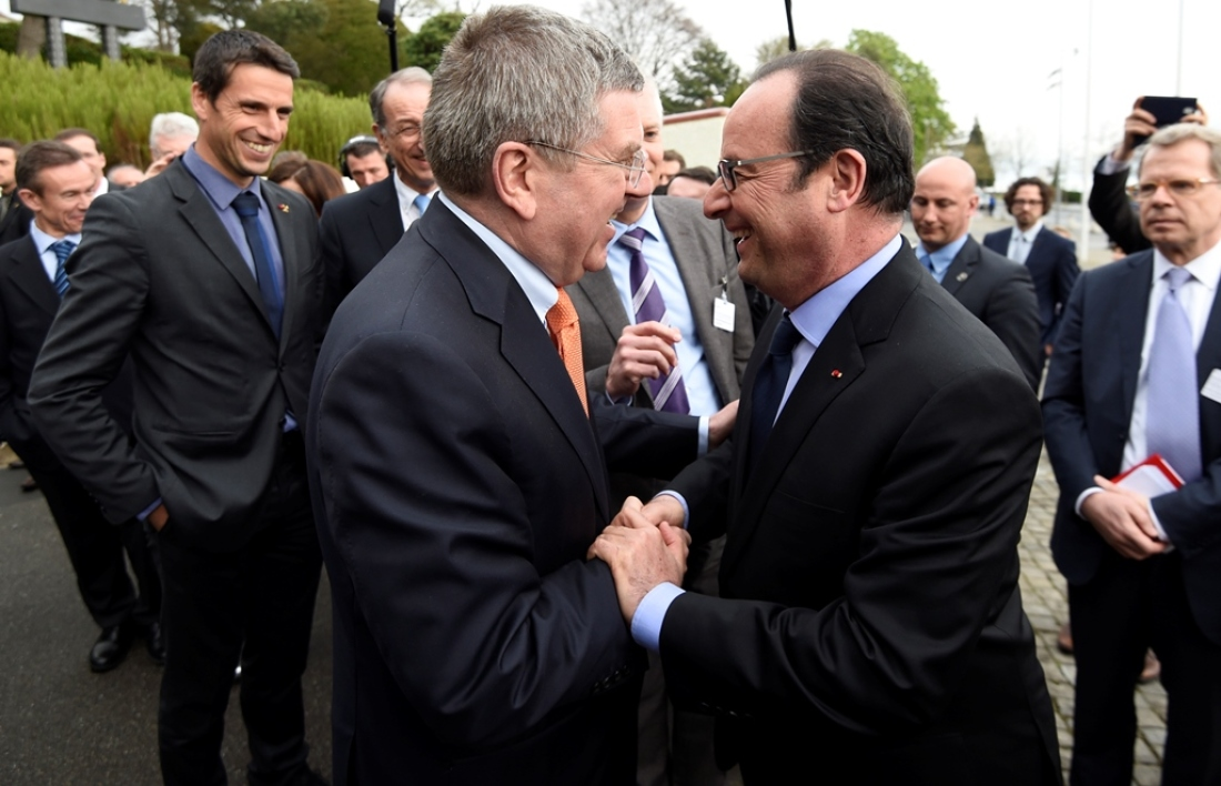Thomas Bach et François Hollande