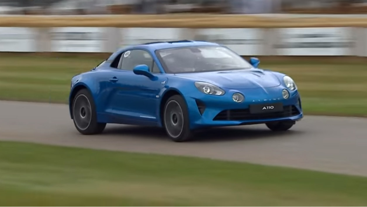 L'Alpine A110  présente à Goodwood pour le Festival of Speed 2017
