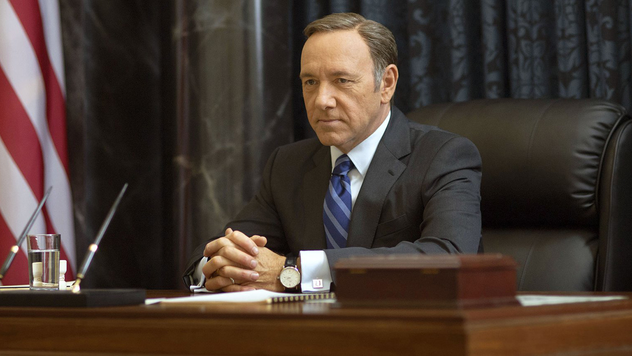 "Kevin Spacey dans la peau de Frank Underwood dans ""House Of Cards"""