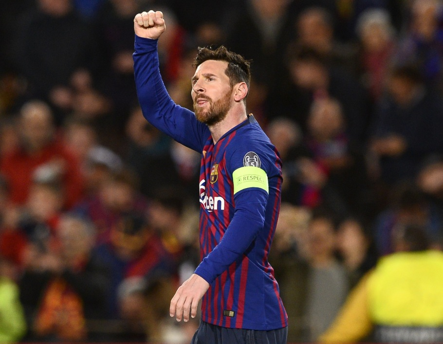 Messi poing serré Barça vs OL AFP.jpg