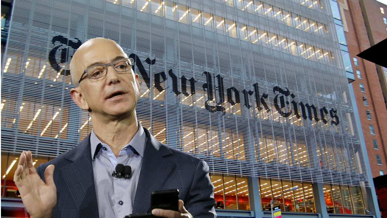 Jeff Bezos, le patron d'Amazon (et du Washington Post) n'a pas du tout apprécié l'enquête à charge du New York Times.