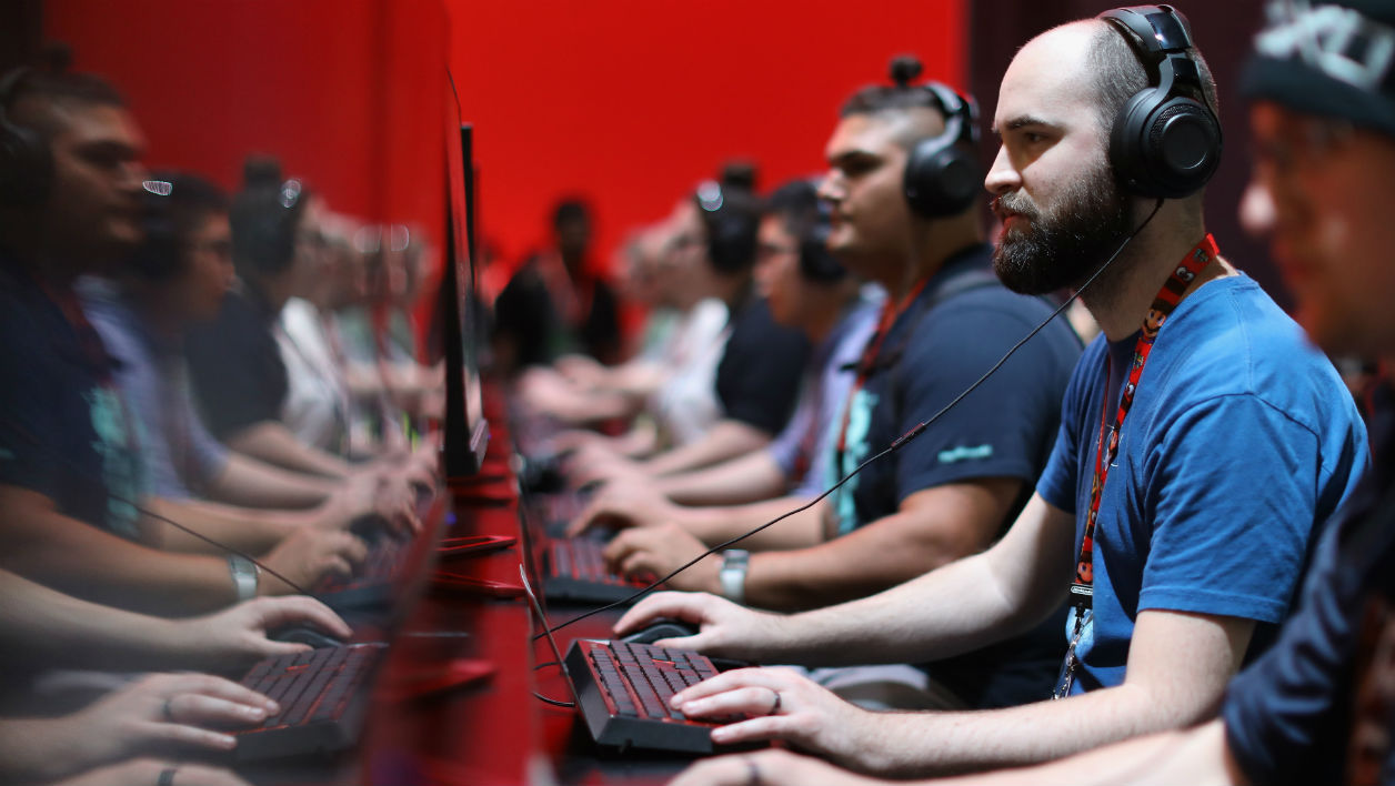 Gamers lors de l'Electronic Entertainment Expo E3, organisée à Los Angeles en juin 2017