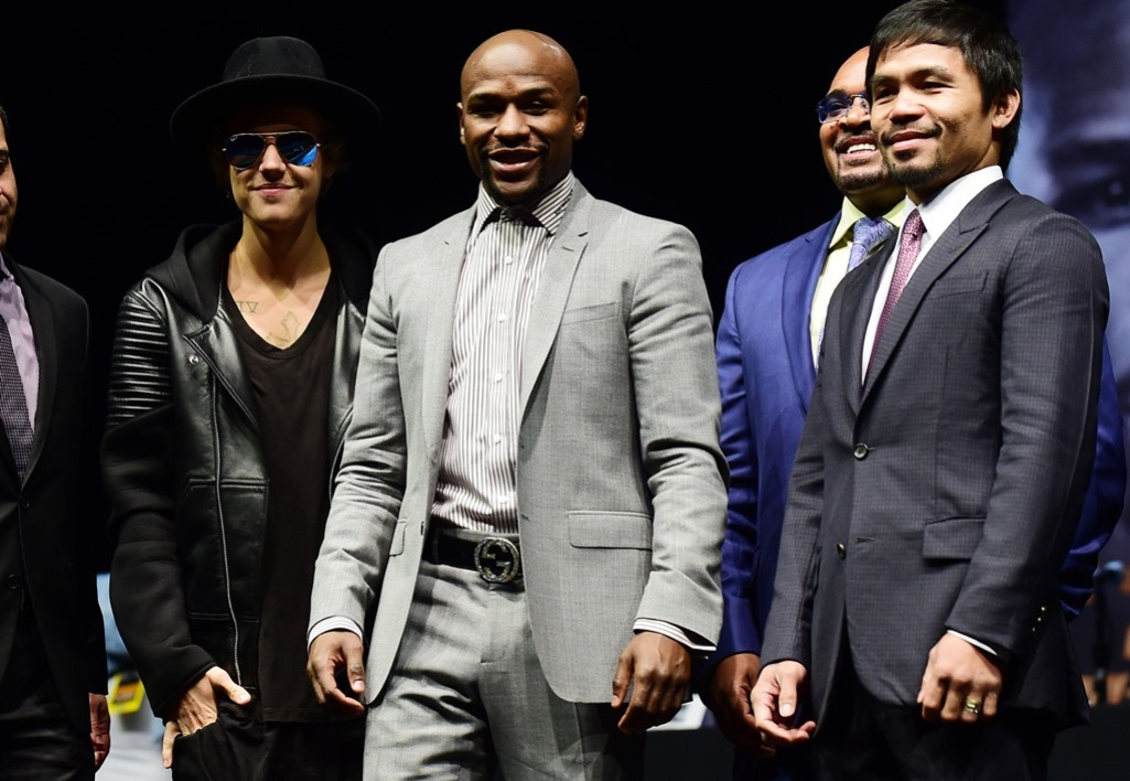 Floyd Mayweather, Manny Pacquiao et.... Justin Bieber