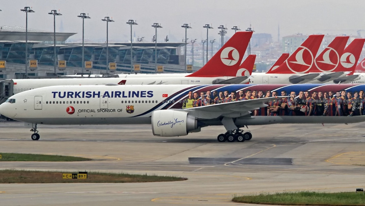 Des avions de la compagnie nationale turque Turkish Airlines.