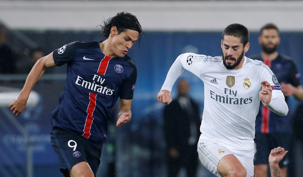 Edinson Cavani (PSG) et Isco (Real Madrid)