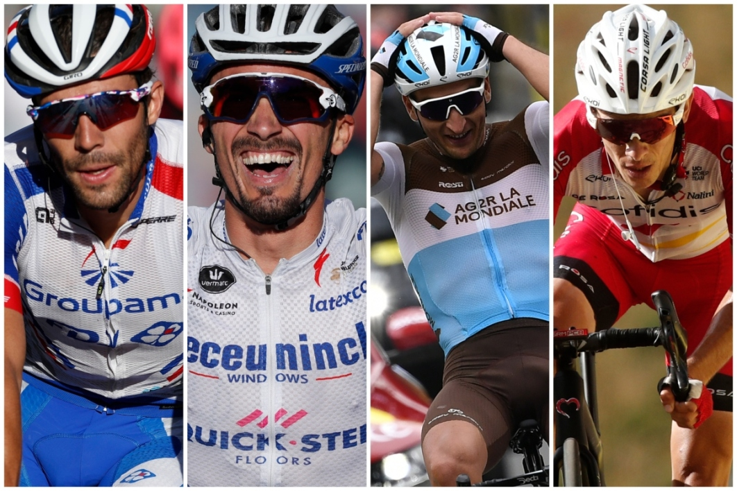 Thibault Pinot, Julian Alaphilippe, Nans Peters et Guillaume Martin