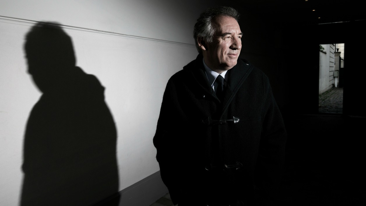 (FILES) This file photo taken on April 27, 2016 shows French Minister of Justice Francois Bayrou posing at the MoDem's headquarters in Paris. Francois Bayrou, a key ally of President Emmanuel Macron, told AFP on June 21, 2017 he was quitting the government, as his party battles a funding scandal. JOEL SAGET / AFP