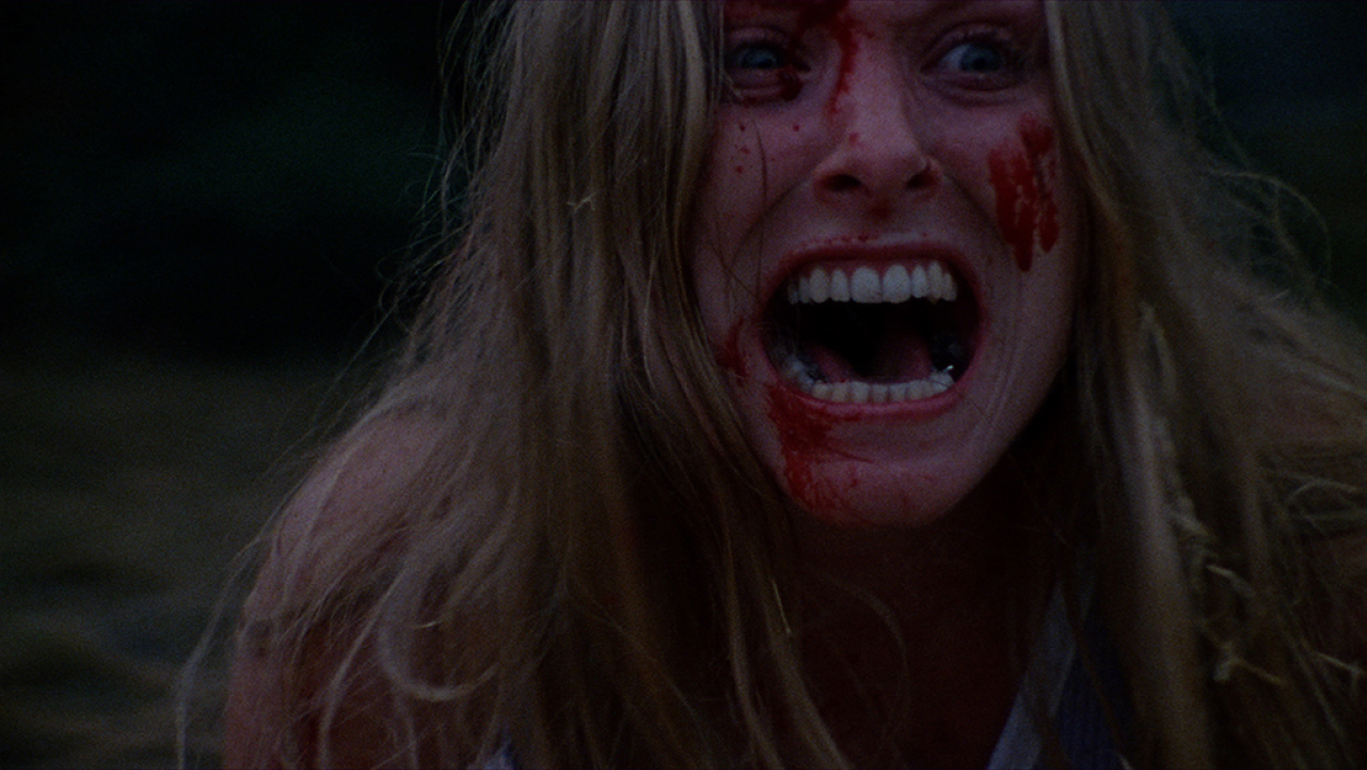 "Marilyn Burns dans ""Massacre à la tronçonneuse""."