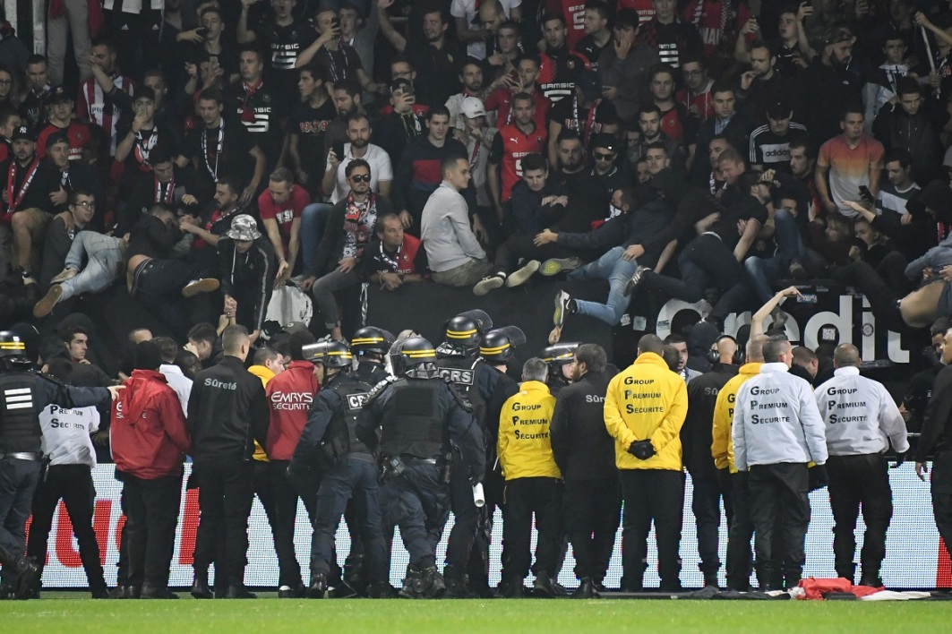Ligue 1: des incidents en tribunes à la fin de Guingamp-Rennes