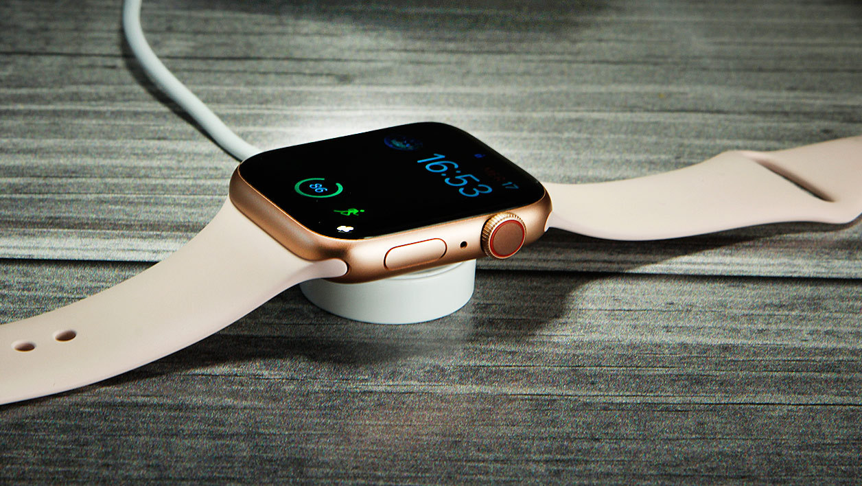 Le système de charge de l'Apple Watch.