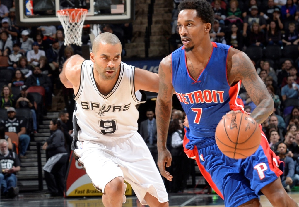 Brandon Jennings (Pistons) face à Tony Parker (Spurs)