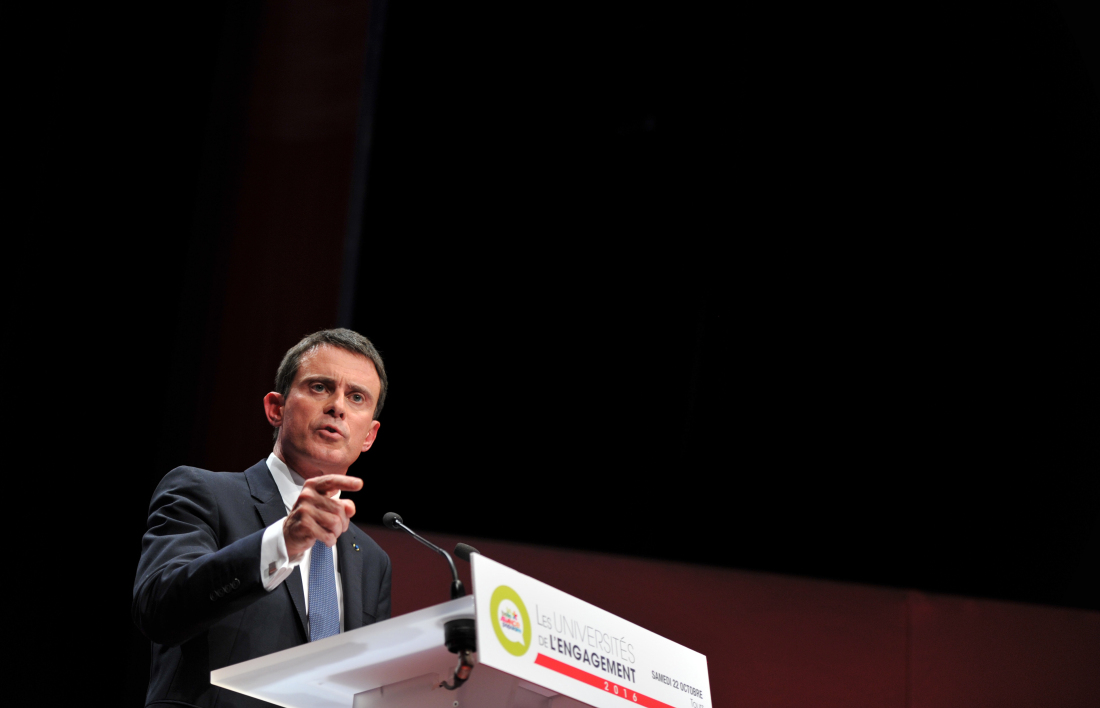 Manuel Valls en meeting à Tours le 22 octobre 2016