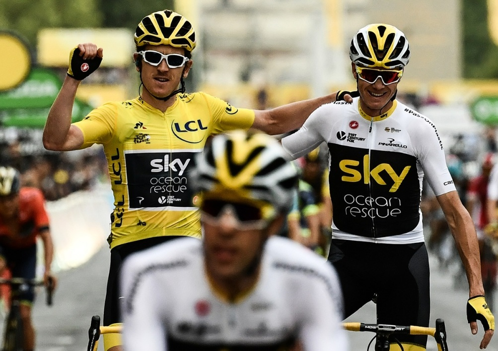 Geraint Thomas et Christopher Froome