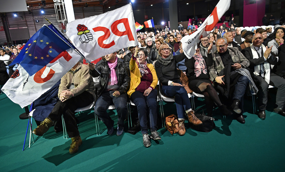 Des militants PS à la convention de la Belle alliance populaire le 3 décembre 2016.