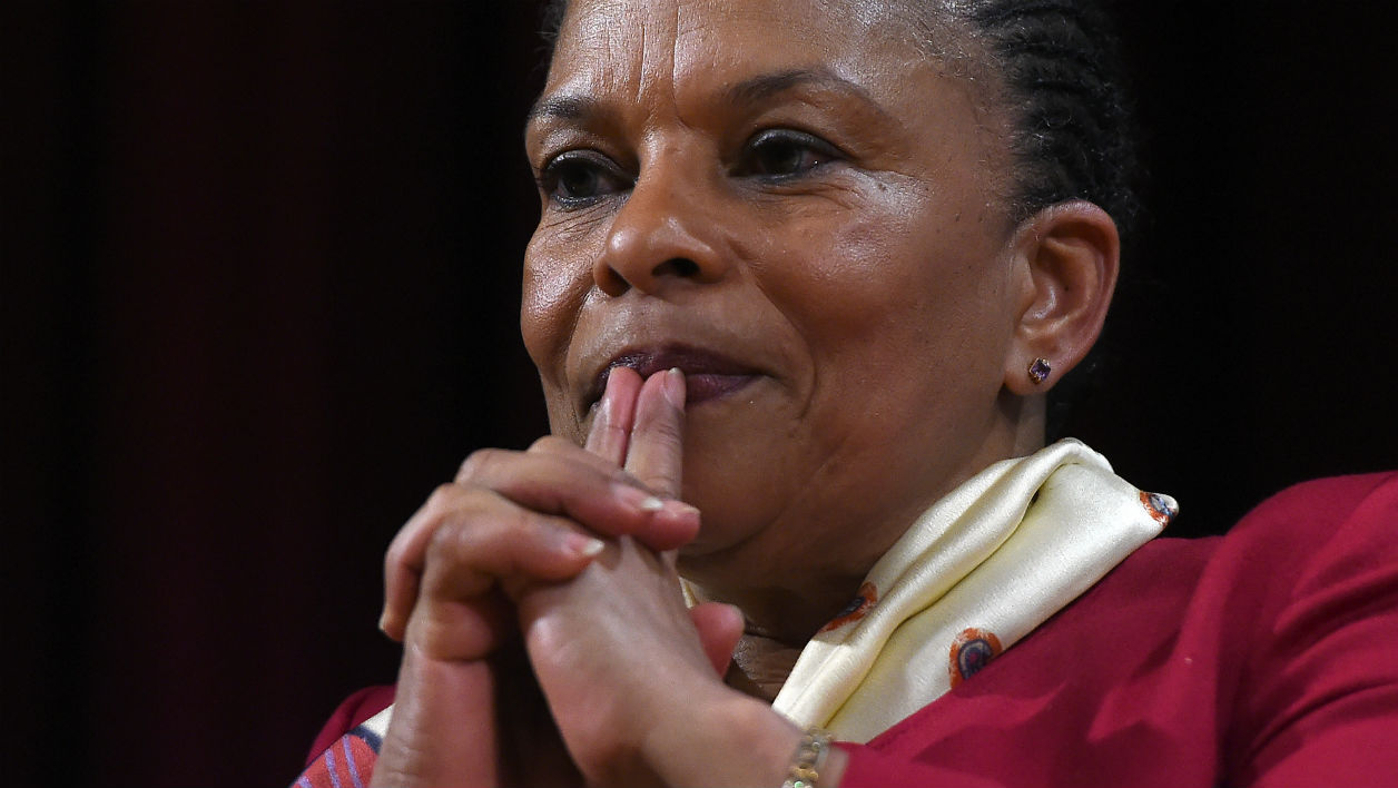 Christiane Taubira le 29 janvier 2016 à l'université de New York