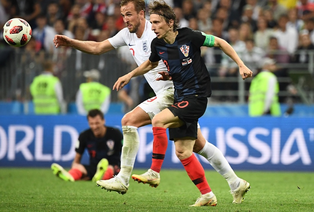 Luka Modric face à Harry Kane